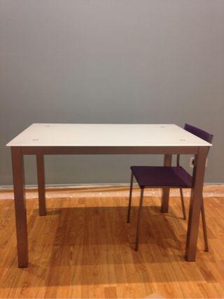 Mesa cocina cristal templado de segunda mano por 65 en for Mesa cristal 4 personas