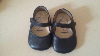 Zapatos niña piel 16 azul marino