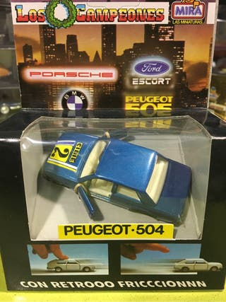 Coche a escala Peugeot 504 con retrofriccion de mira(solido,rico,rally,pilen,guisval,Matchbox,majorette,