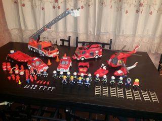 playmobil lote bomberos