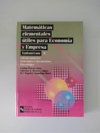 Matematicas elem. para econo