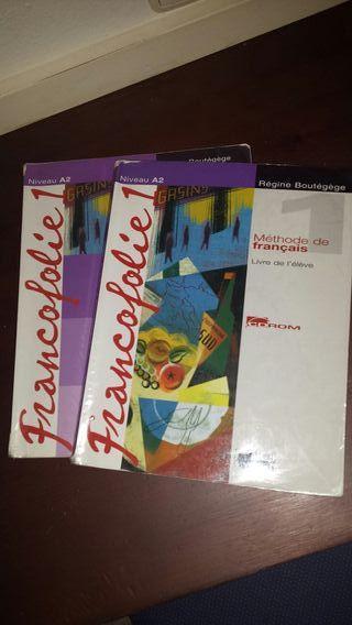 libro y cuadernillo de frances de primero de bach
