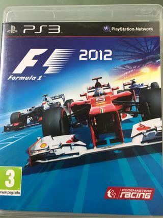 Juego ps3 F1 2012
