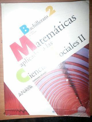 libro de texto matemáticas ANAYA Bachillerato 2