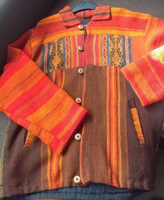 Chaqueta-Abrigo tela Peruana