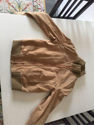 chaqueta de cuero verdadero marrón