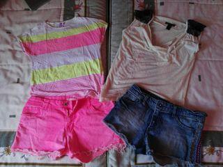 Ropa: camiseras y shorts
