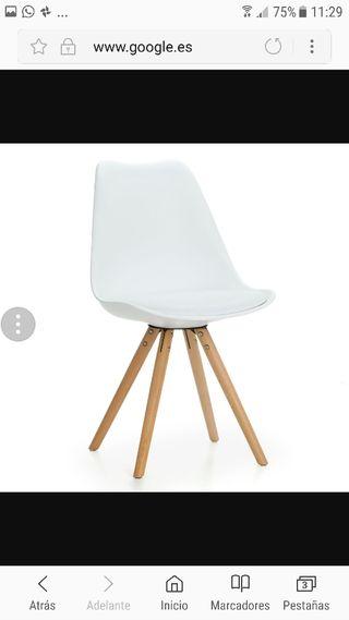 2 silla estilo nórdico