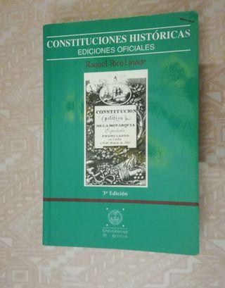 Libro Constituciones Históricas Raquel Rico Linage