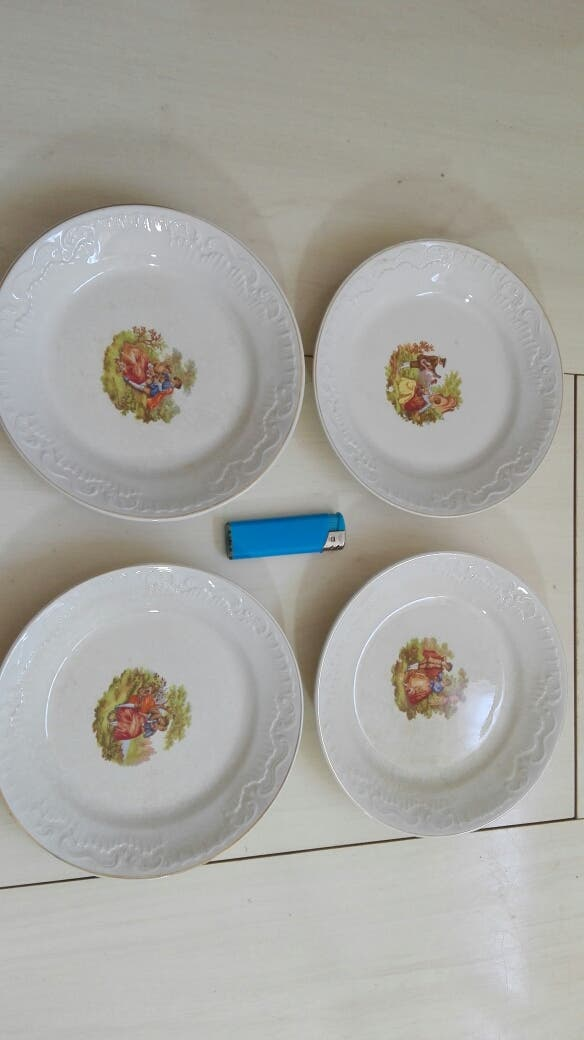 platos Pickman y cía sello verde