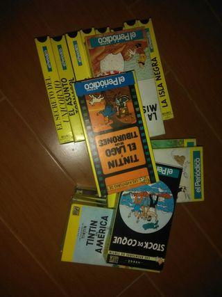 VHS colección de videos de Tintin
