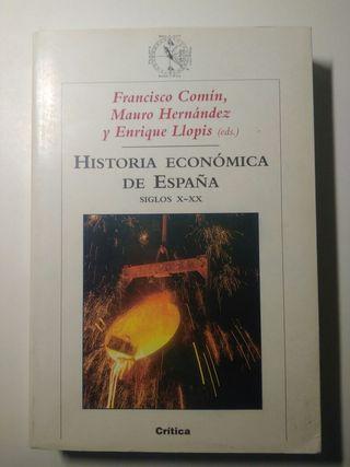 Libro Historia económica de España. Siglos X-XX.