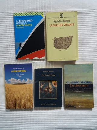 lote de 5 libros en italiano