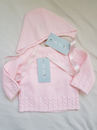 Conjunto primera puesta bebé rosa