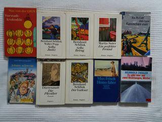 Lote de libros en alemán