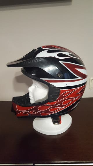 casco de bici de descenso SPECIALIZED. rojo/negro