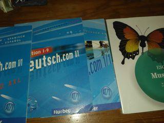 libros música bilingüe y alemán 1 eso