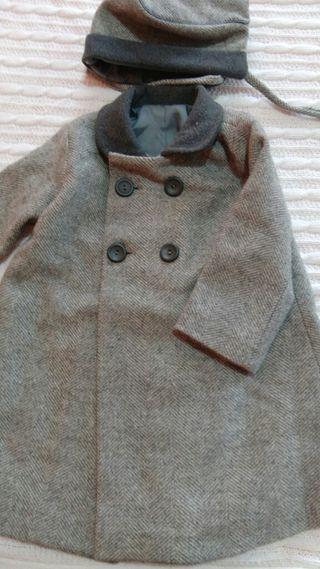 Abrigo lana niño de vestir talla 18-24 m y capota e20b5b09705e