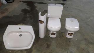 piezas cuarto de baño: pila, bidet, inodoro