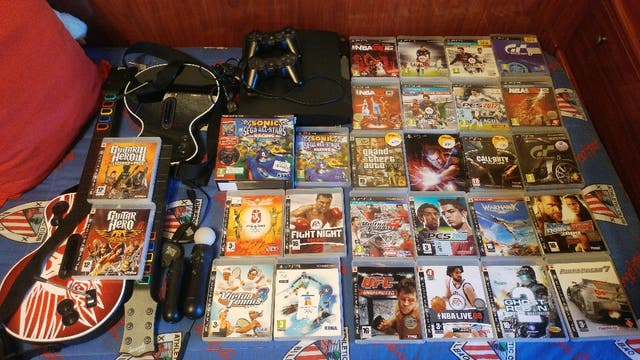 pack ps3 slim 500gb con accesorios y juegos
