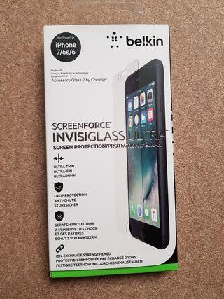 Protector pantalla cristal belkin iPhone 7 6s 6