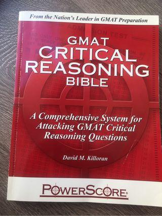 Gmat critical reasoning book