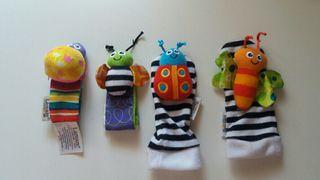 Sonajeros bebe para muñecas y tobillos