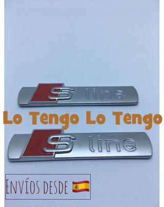 2 insignias Audi Sline-2 colores
