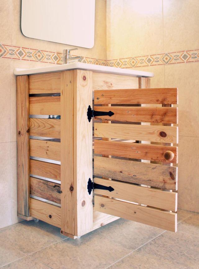 mueble de lavabo rustico de segunda mano por 290 en
