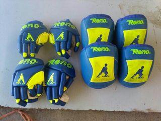 guantes y rodilleras hockey