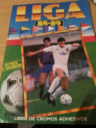 album de cromos de la liga 88-89