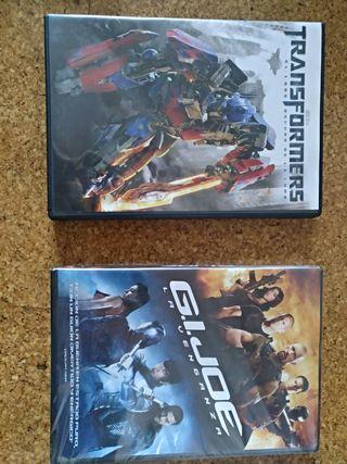 Peliculas Dvd transformers y Gijoe. a estrenar.
