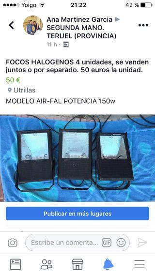 FOCOS HALOGENOS 4 unidades
