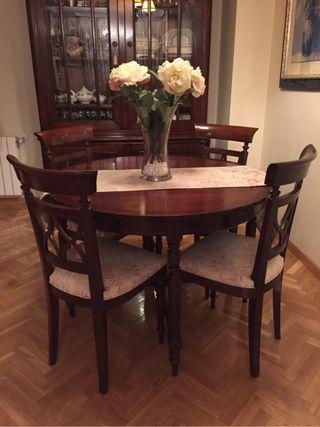 Conjunto comedor mesa y sillas