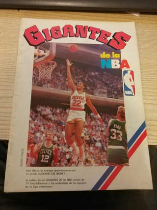 album cromos gigantes de la nba hobby press basket