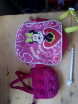 Bolso y Mochila Micky Mouse niña