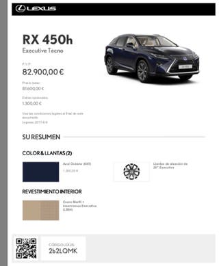 Lexus RX-450 Executive Tecno