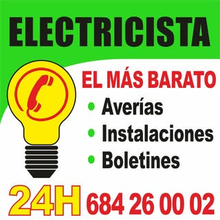 Electricista 24 horas - EL MÁS BARATO