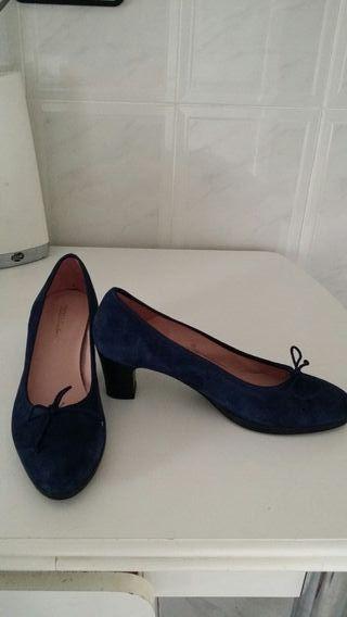 Zapatos tacón azules