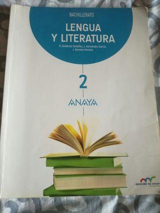 Libro de Lengua y Literatura 2° Bachillerato