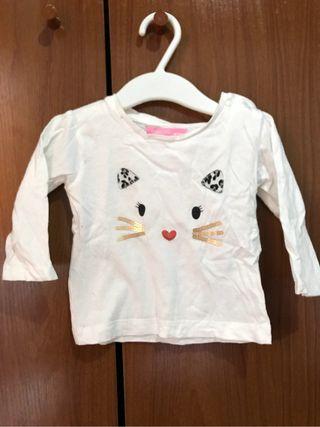 Camiseta bebe niña 9 meses