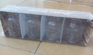 Vasos cristal pequeños vintage