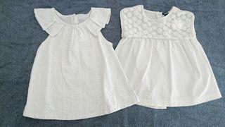 Blusas blancas verano niña