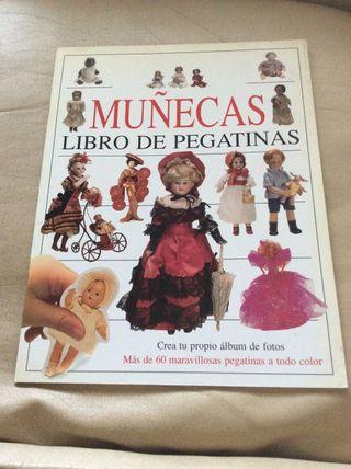 Libro de pegatinas muñecas