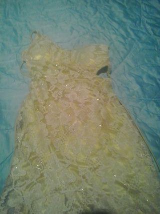 vestido boda muy bonito dorado brillo bodas