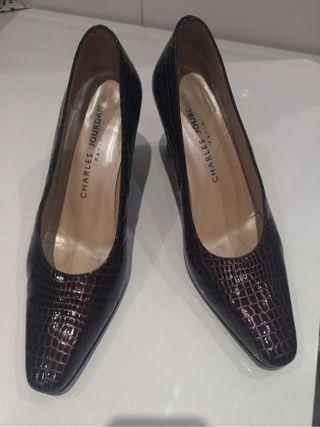 Zapatos tacón n.38 piel