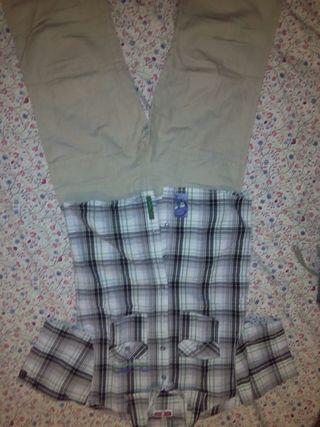 1 pantalon y 3 camisas niño 10/12 años