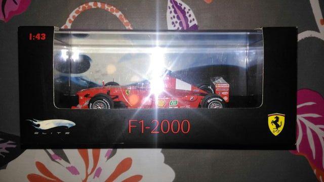 Coche Hot Wheels Elite Ferrari F1-2000 NUEVO