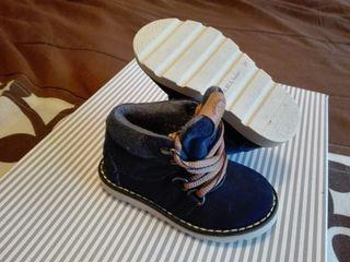 botines ante azul Zara, n°21