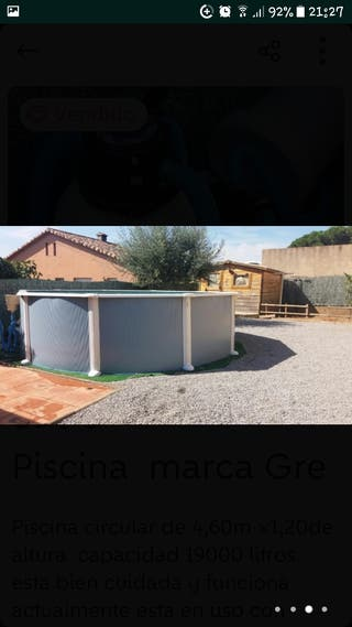 Piscina desmontable de segunda mano por 585 en canoves for Vaso piscina poliester segunda mano